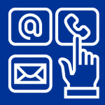 Icon representing contact options